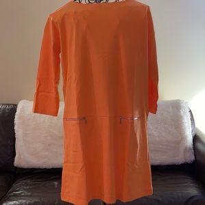 🦋  New!  Joan Vass Knit Zip-Pocket Shift Dress 🦋